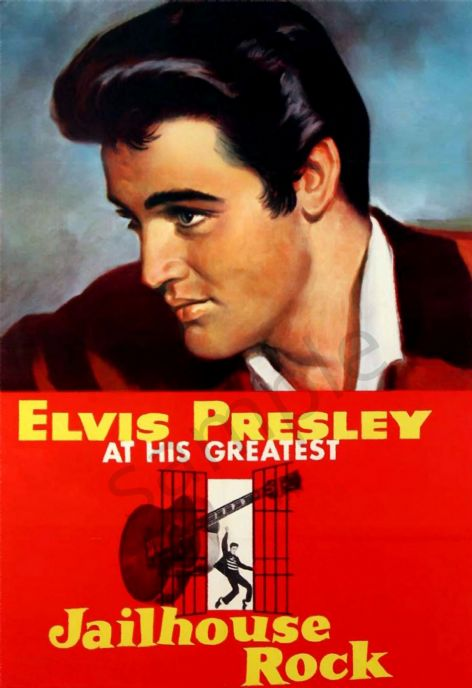 Elvis Presley in Jailhouse Rock - Film Advertising Poster